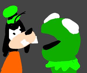 Goofy hates Kermit