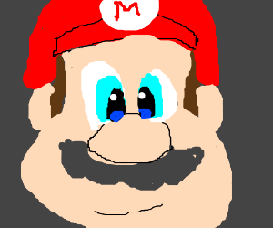 Mario with no eyebrows (i just skept that lol)