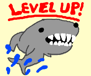 Sharky Leveled Up