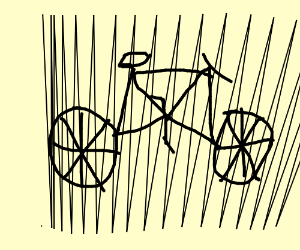 Vertical lines on a bicycle