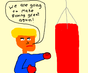 trump is boxing