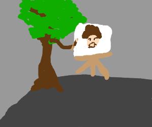 Happy tree paints bob ross