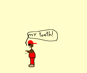 Rapper in red loses his graffiti tooth