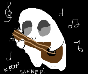 Ghost plays the guitar