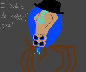 Suspicious mafia squid crab