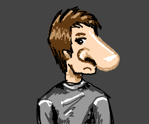 Guy with a very large nose