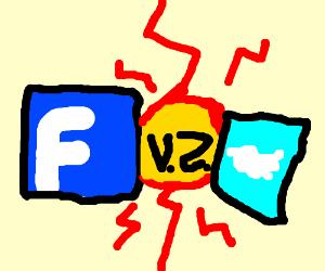 facebook VS twitter! fiGHT!