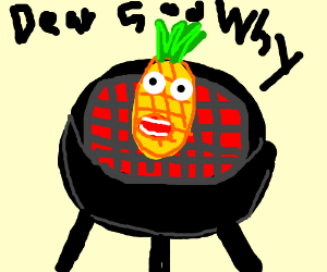 Sentient Pineapple on the Grill