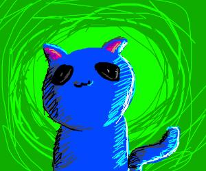 Oh god my eyes, curse you blue cat!