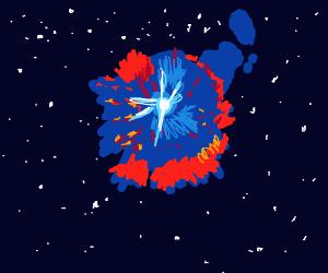 Awesome star supernova
