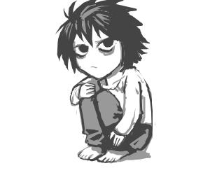 Chibi version of L (Death Note)