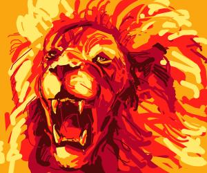 Fire Lion Roaring