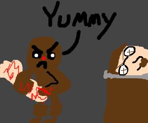 ginger eaten man