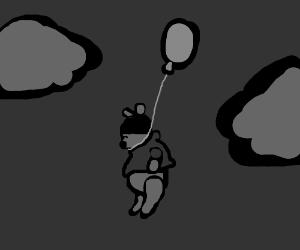 Hanged on a balloon...