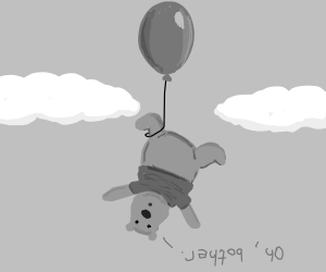"""""""Oh Bother..."""" Winnie the Pooh fly w/ Balloon"""