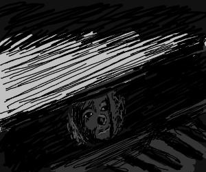 Clown in the gutter scene