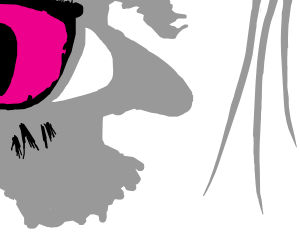 a closeup of a face