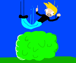 little white dude who falling on a bush