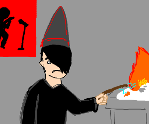 edgy wizard burns computer