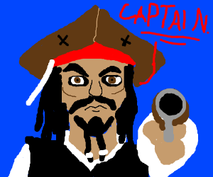 Jack Sparrow with a Pistol