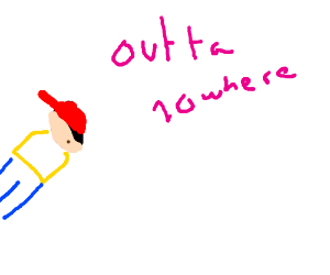 NESS COMES OUT OF NOWHERE (Earthbound)