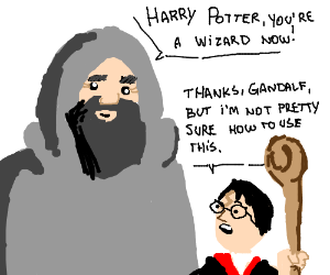 HARRY POTTER ,YOU'RE A WIZARD!