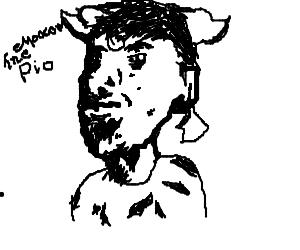 Draw MooCowThePerson (Hard PIO)