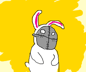 Rabbit with an iron mask