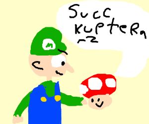 green mario mushrooms says succ kup teraz