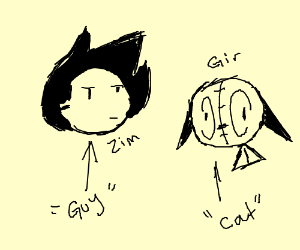 cat with guy