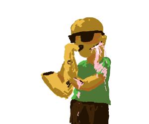 Bleeding Saxophonist