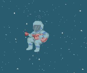 Space guitar man