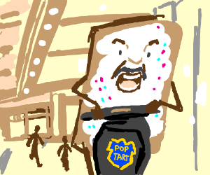 Paul Blart Pop Tart Drawception