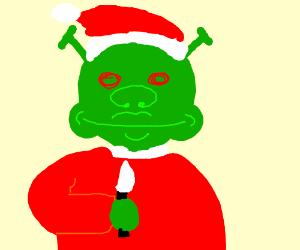Evil Shrek Santa