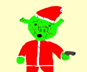 Santa Shrek is a murderer