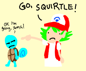 Pokemon Trainer With Green Hair Drawing By Spoonydude Drawception