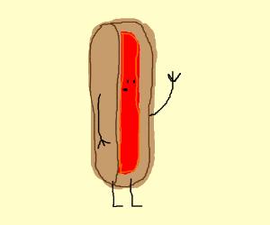 Anthropomorphised Hotdog