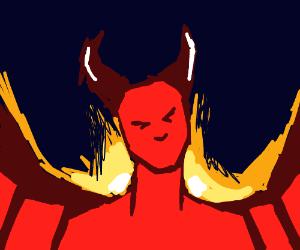 Fiery demon-girl