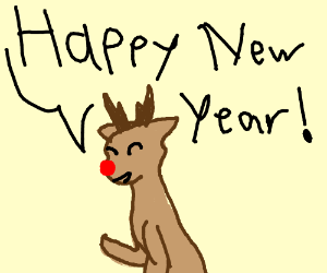Happy New Year -Rudolph