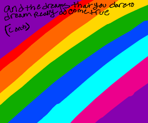 Somewhere over the rainbow skies r blue (cont)