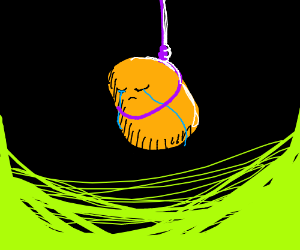 Potato sad about Potato's suicide
