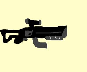 gun with a scope