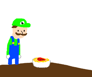 someone toucha ma spaghet but luigi