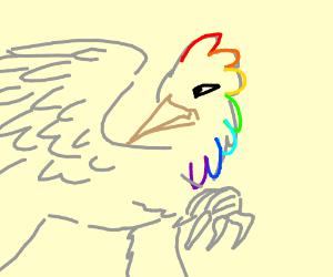 rainbow hair'd blue hippogriff