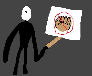 Slenderman w/ a face wont allow knuckles