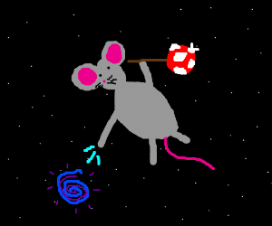 hobo mouse has mystic space powers.