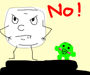 A Marshmallow Rejects Anything Cute Drawing By Tzudoeart Drawception