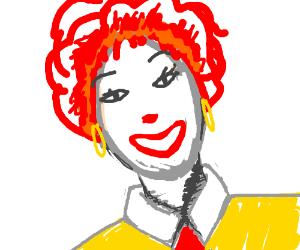Female Ronald McDonald.