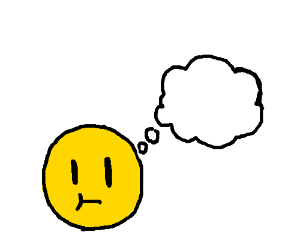 an emoij that thinks