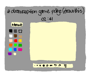 a drawception game page (Draw this)